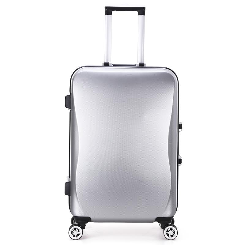 20/24 inch High quality trolley case arenaceous aluminum frame ABS+PC Travel luggage rolling suitcase men business Boarding box 21 inch students scooter suitcase boy cool trolley case 3d extrusion high quality pc separable travel luggage child boarding box