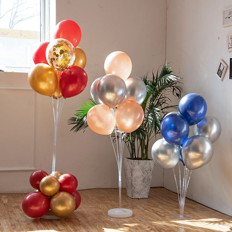 7/10 Tube Birthday Balloon Stand With Stick Holder For Wedding Decorations 1