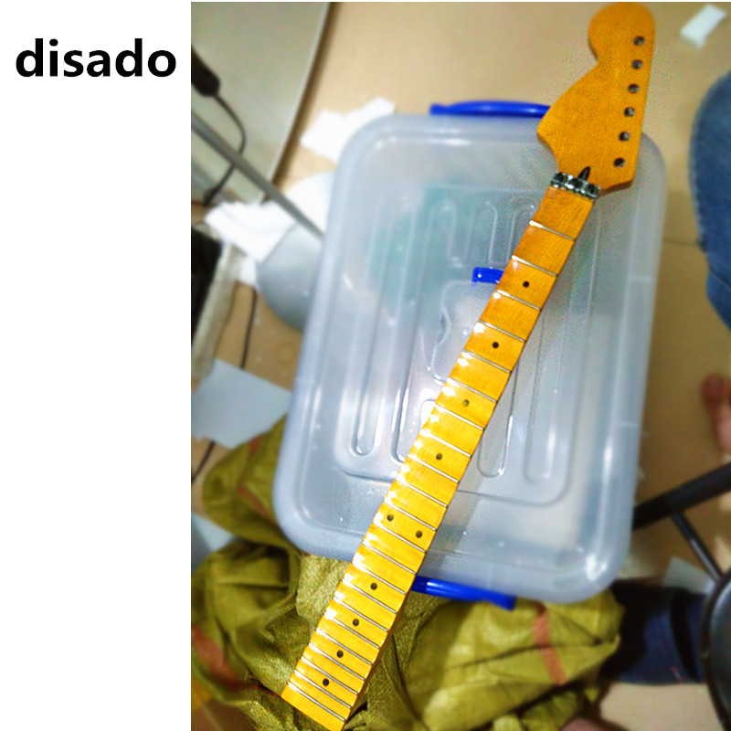 disado 22 Frets maple scallop fretboard big reverse headstock maple Electric Guitar Neck glossy paint guitar parts accessories disado 21 22 24 frets big headstock maple electric guitar neck maple scallop fretboard glossy paint guitar parts accessories