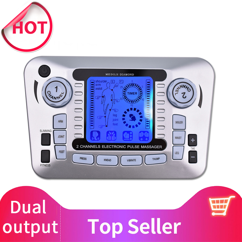 Electronic Pulse Massager Tens Ems Machine massager electrical nerve muscle stimulator Acupuncture Fat Burner Pain ReliefElectronic Pulse Massager Tens Ems Machine massager electrical nerve muscle stimulator Acupuncture Fat Burner Pain Relief