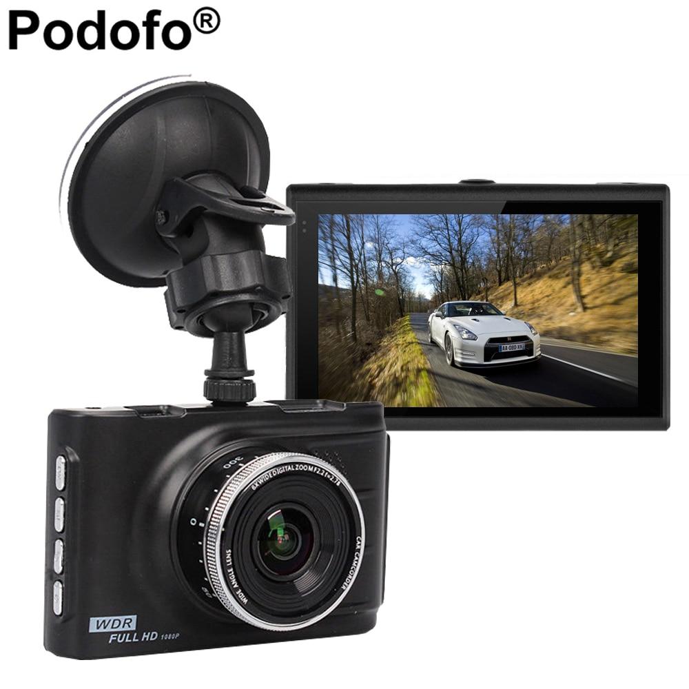 Podofo 100% Original Car DVR Novatek 96223 Podofo FH03 Camera 3.0 inch Full HD 1080P Recorder WDR G-sensor Registrator Dashcam