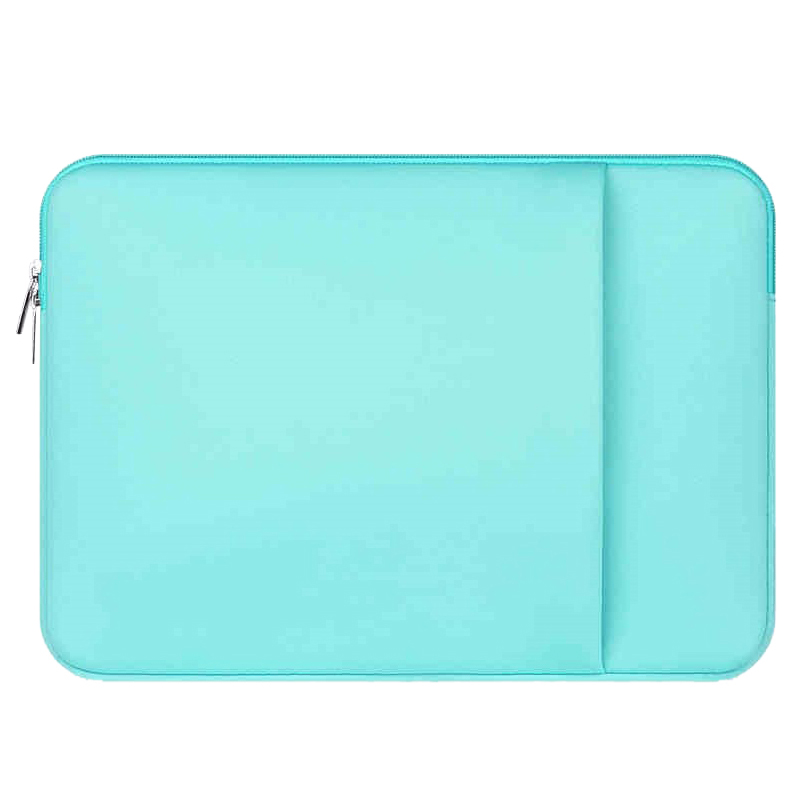 11/14/15/13 Sleeve Case For Macbook Laptop AIR PRO Retina Mint Green with outer pocket 2017 newest hot sleeve case bag for macbook laptop air 11 12 13 pro retina 13 3 protecter wholesales drop free shipping