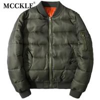 MCCKLE 2017 Bomberjack winter jassen Leger Tactische Baseball Jas Katoen effen kleur jassen Mens Varsity Jacket