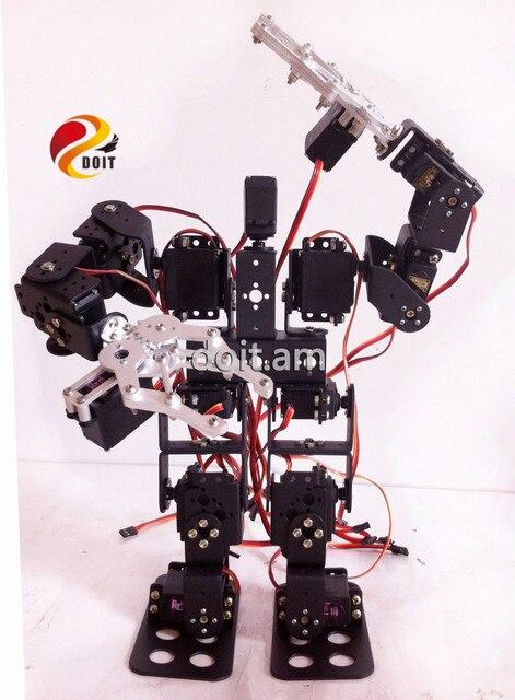 Oficial DOIT 15DOF Robot Humanoide un conjunto completo de Accesorios Stent + Garras Del Aparato de gobierno 2 UNIDS 15 UNIDS Servo de alto Par