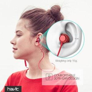 Image 2 - HAVITหูฟังบลูทูธกีฬาหูฟังIPX5กันน้ำV4.2แม่เหล็กหูฟังไมโครโฟน10ชั่วโมงI39