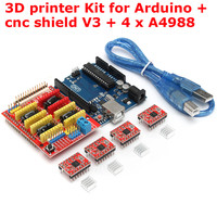 3D Printer Kit For Arduino CNC Shield V3 UNO R3 A4988 4 GRBL Compatible Durable Quality