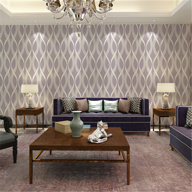 beibehang wall paper European Style Mural  Wallpaper Modern Living Room Simple Of Wave Design Wall Paper 3d Papel De Parede Roll non woven bubble butterfly wallpaper design modern pastoral flock 3d circle wall paper for living room background walls 10m roll