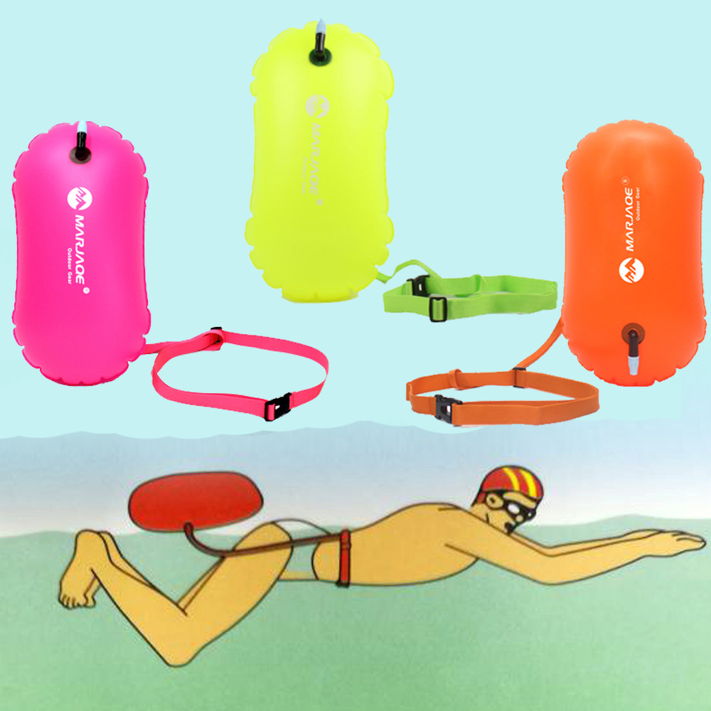 3 Color Swimming Tow Float Float Buoy Air Dry Bag Swimming Trainning Safety Mark Inflatable Flotation Bag