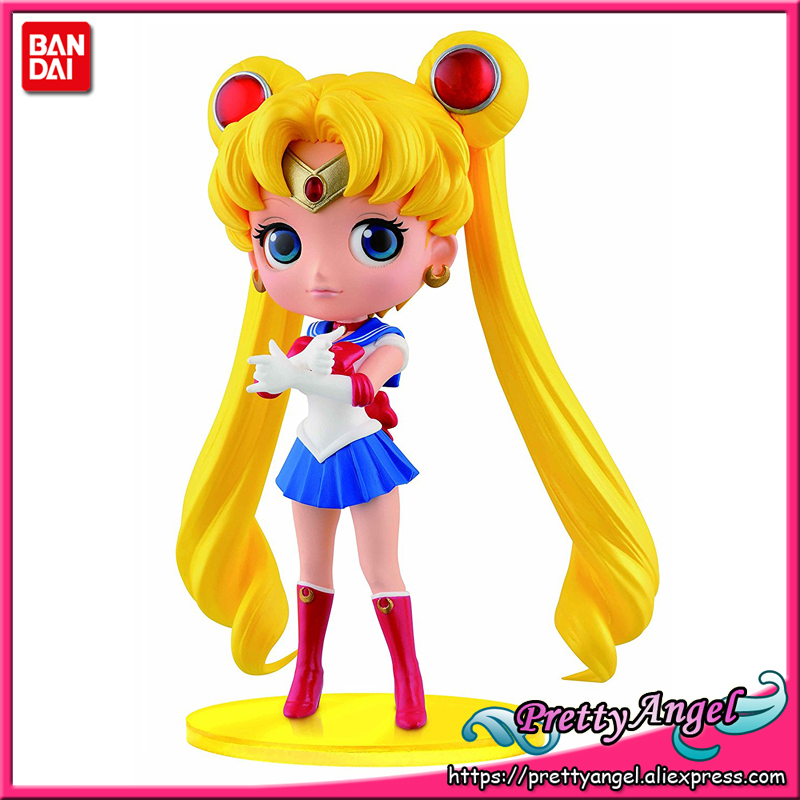 PrettyAngel - Genuine Banpresto 20th Anniversary Sailor Moon Q Posket QPosket Sailor Moon PVC Toys Action Figure цена