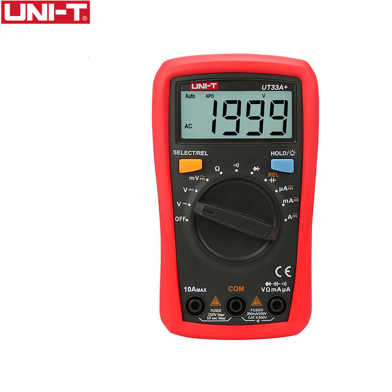 UNI-T UT33+ series upgrade Palm Size Multimeters high precision universal pocket multimeter LCD disaplay Automatic measurement