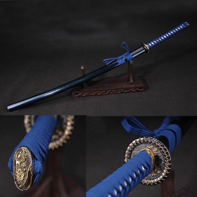 Acheter katana samoura japonais p e 60si2mn lastique en acier alliage - Formation ameublement decoration ...