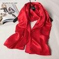 Mujeres Bufandas de Seda Chal Rojo Pasión
