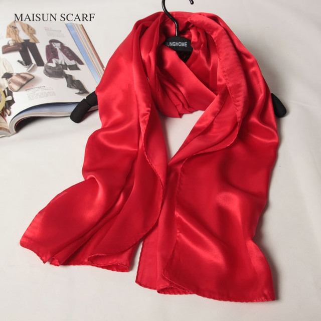 Women Silk Scarves Shawl Red Passion