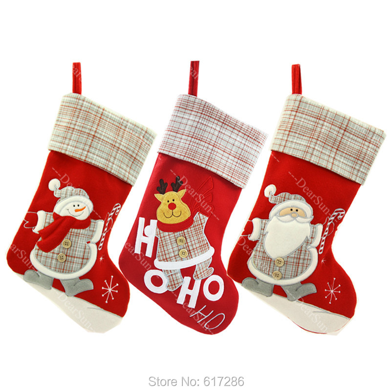 Personalized Stocking Embroidered Names Christmas Customized Stockings DHL THT Free Shipping Indoor Decoration