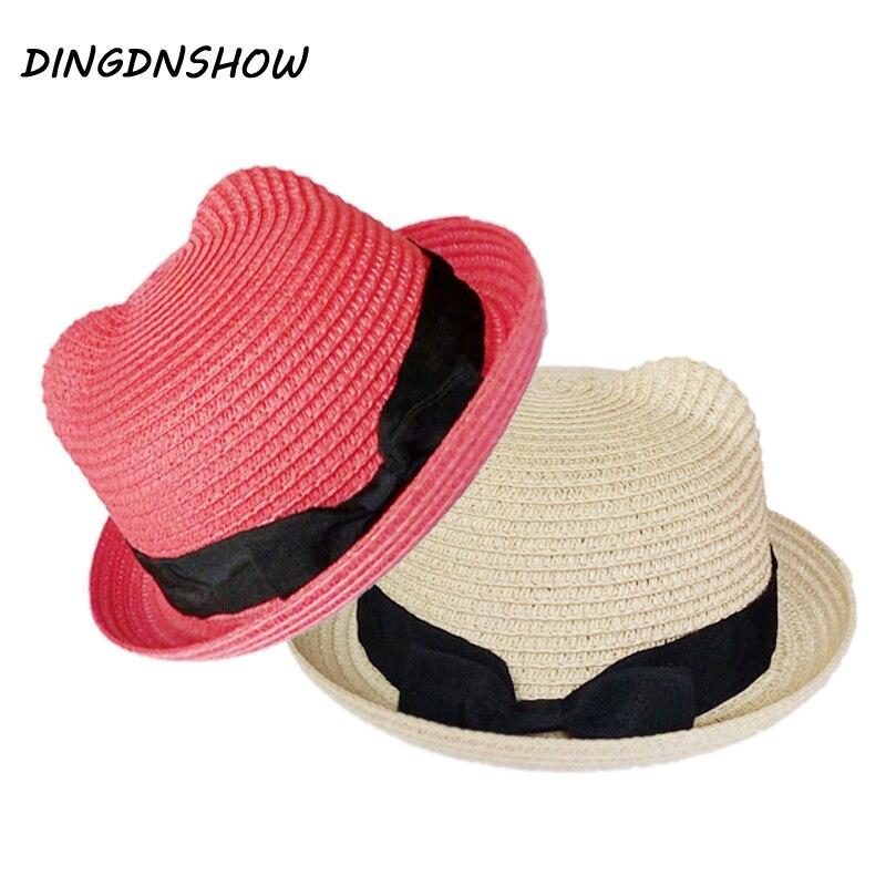 Dingdnshow New Kids Straw Hats Summer Hat Children Beach