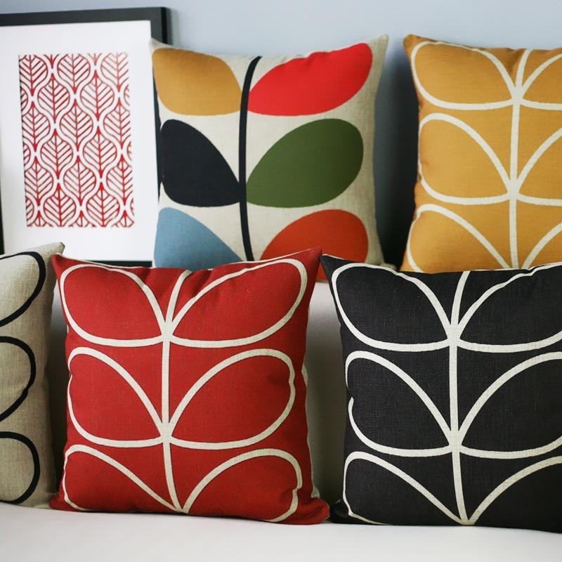Federe Cuscini Gialle.Foglie Di Colore Petali Cuscino Giallo Rosso Albero Cuscino Di