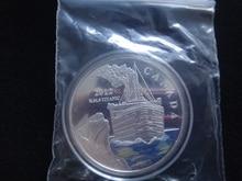 New hot sale wholesale 50pcs/lot 2012 1OZ R.M.S TITANIC Elizabeth II CANADA Fiji 1oz silver clad plated coloured coin