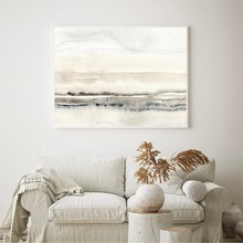Beige And Grey Painting Watercolor Canvas Print Modern Minimalist Poster Wall Art Picture for Living Room Home Decor(China)