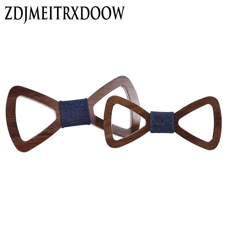 2017ZDJMEITRXDOOW  Wooden Bow Tie Triangle Hollow Corbata Boda Corbatas Ties For Men Kids Necktie Bowtie Gravata Casamento