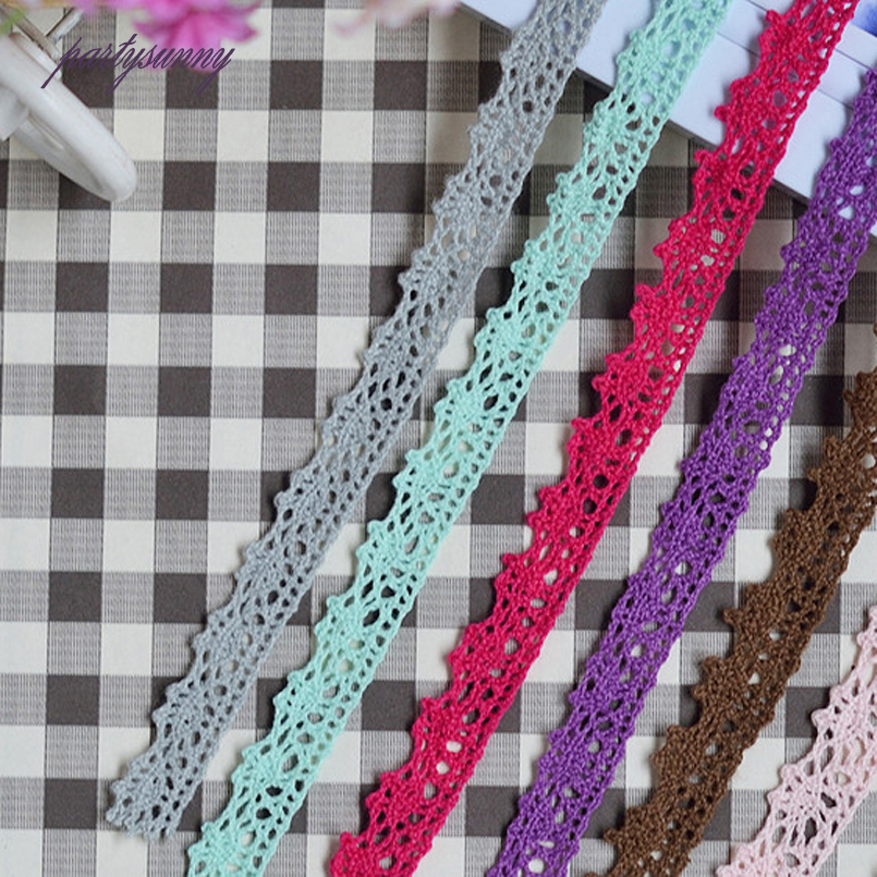 Lace Home & Garden Persevering Pf 1yard 1.5cm Wide Multicolor Lace Trim Cotton Lace Applique Fringe Tissu Needlework For Wedding Dress Curtain Decoration Hb013 Orders Are Welcome.
