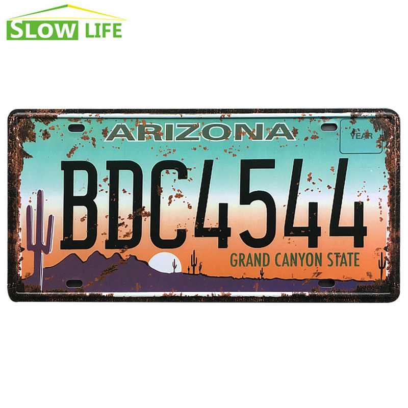 Arizona BDC4544 Car Metal License Plate Metal Tin Sign Vintage Home Decor Tin Sign Bar Decorative Metal Sign New Metal Plaque