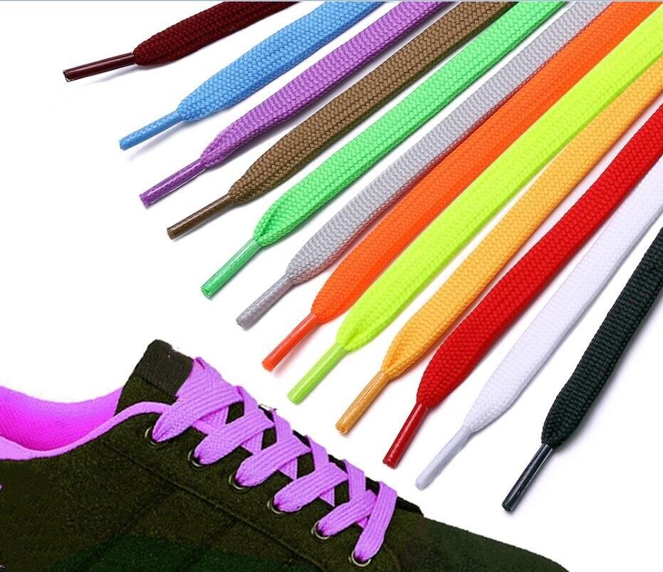 Colourful Shoelaces Shoe Laces for Canvas Sneakers Sport Shoes  Long Rope Laces  8mm Wide Long 100CM/ 120CM