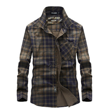 Men Plaid Breathable Outdoor Shirts Long Sleeve 100% Cotton Tops Sports Cargo Camping Climbing Male Tactics Army Summer Clothes