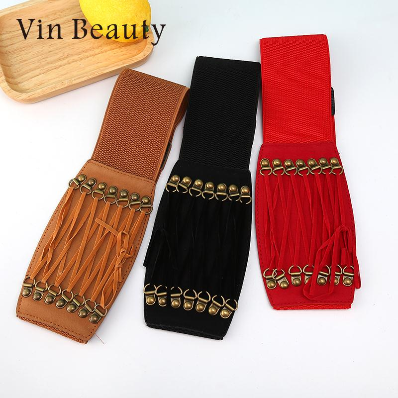 Dress Belt Dress Waist Belt Waistband Wrap Women Ladies Women'S Fashion Waist Wool Buckles Vintage Belt