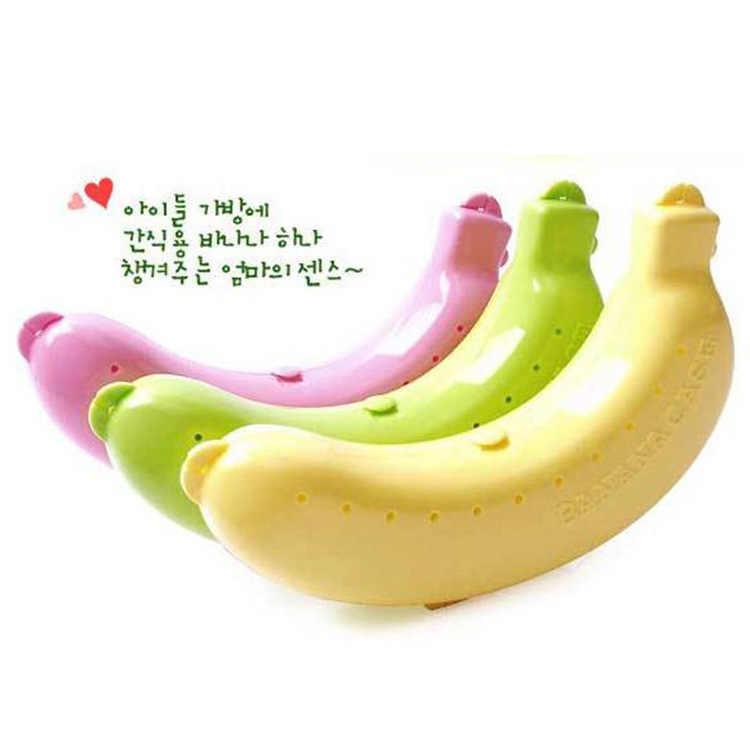 1 pc Bonito Banana Protector Recipiente de Viagem Ao Ar Livre Almoço Jantar Titular Caixa de Armazenamento de Frutas de Banana Barato Caixa de Viagem Ao Ar Livre