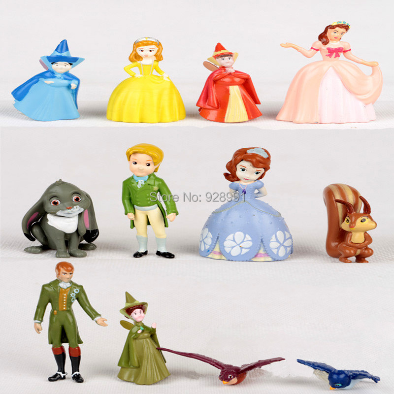 12 Pcs Princess Sofia The First Dolls Anime Toy Figure Set