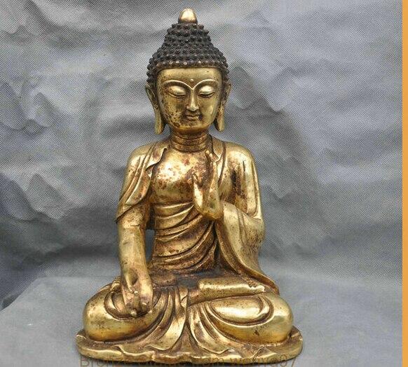 13 China Tibet Tibetan Buddhism Temple Shakyamuni Buddha Bronze Statue13 China Tibet Tibetan Buddhism Temple Shakyamuni Buddha Bronze Statue