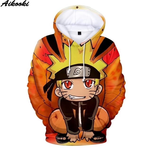 Aikooki Men/Women Hoodies 3D Naruto Sweatshirt Oversized Tops Print Anime Naruto 3D Hoodies Men pullovers Hooded Sweatshirts