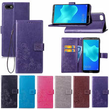 Luxury Flip Wallet PU Leather Case For Huawei Y5 2018 Phone Bag With Magnet Card Holder Fundas Cover For Huawei Y5 Prime 2018