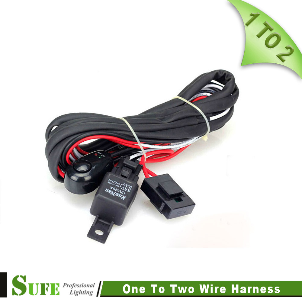 online buy whole wiring harness jeep from wiring harness sufe high quality 2 to 1 led wrok light relay wire harness 3 metter suit for