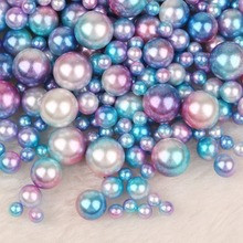 250PCS Mix 4/6/8/10mm ABS Round Imitation Pearls Loose Beads No Hole for DIY Garment Clothing Shoes Accessories Supplies