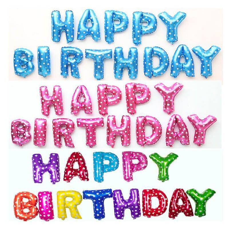 pc unidssetlot colorido foil balloons party feliz cumpleaos accesorios
