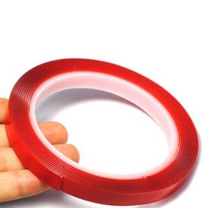 Image 2 - 3M Vermelho Transparente de Silicone de Alta Resistência Dupla Fita Adesiva Frente E Verso Etiqueta Para Carro Sem Vestígios Adesivo Adesivo Sala de Mercadorias