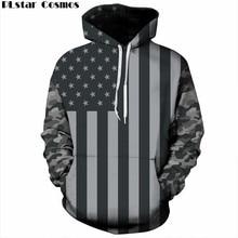 PLstar Cosmos USA Flagge Hoodies Männer/frauen 3d Sweatshirts Drucken Gestreifte Sterne Amerika Flagge Mit Kapuze Pullover Trainingsanzüge Pullover 5XL