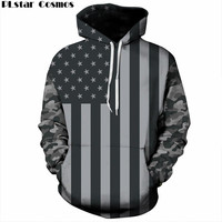 PLstar Cosmos USA Flag Hoodies Men/women 3d Sweatshirts Print Striped Stars America Flag Hooded Hoodies Tracksuits Pullover 5XL