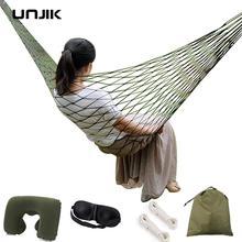 Portable Garden Nylon Hammock swing Hang Mesh Net Sleeping Bed Swing for Travel Camping Hammock Outdoor Furniture with gift Pill цена