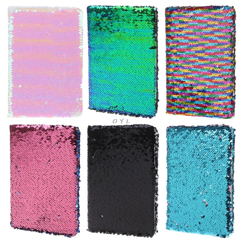 Creative Sequins A5 Notebook Notepad Glitter Diary Memos Stationery Office Supplies Stationery 78 SheetsCreative Sequins A5 Notebook Notepad Glitter Diary Memos Stationery Office Supplies Stationery 78 Sheets
