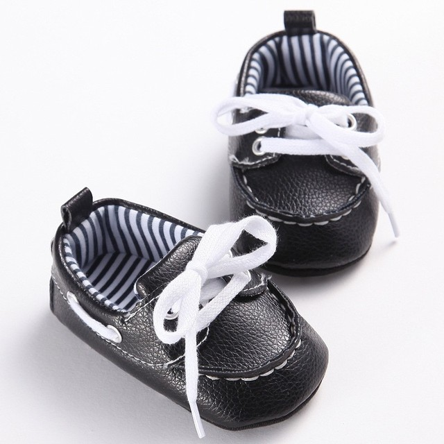 ROMIRUS Fashion Casual Newborn Baby Boy Kid PU Leather First Walkers Shoes Crib Bebe Soft Soled Children Loafer Prewalkers Shoe