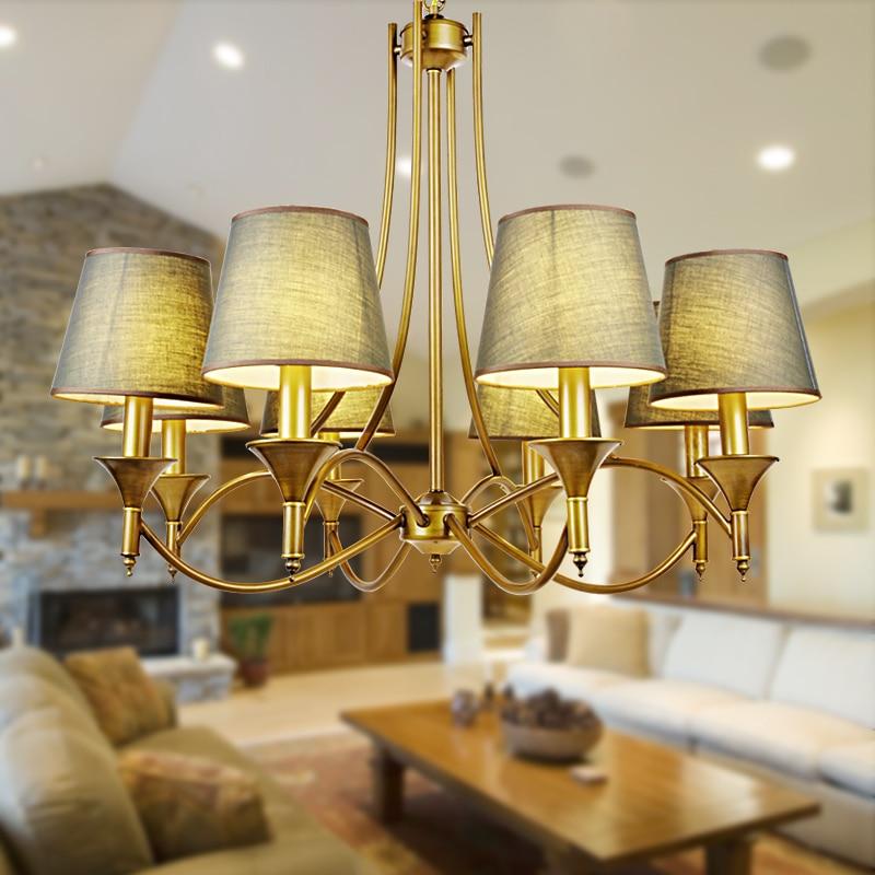 tin lighting fixtures. vintage home lighting chandeliers indoor bedroom light fixtures grey green fabric lampshade copper iron chandelier e14 110240v tin