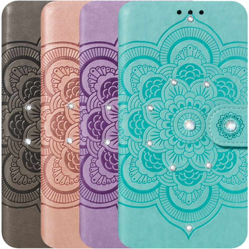 Luxury Bling Glitter Phone Bags sFor Motorola Moto P30 Note One Power Z4 Play E5 Go G7 Plus Leather Lady Covers Datura P13H