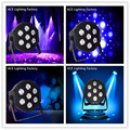 4pcs/lot hot selling Fast Shipping LED par flat SlimPar Tri 7x9W RGB LED Stage Wash Par Light DJ 3/7Channels led lamp