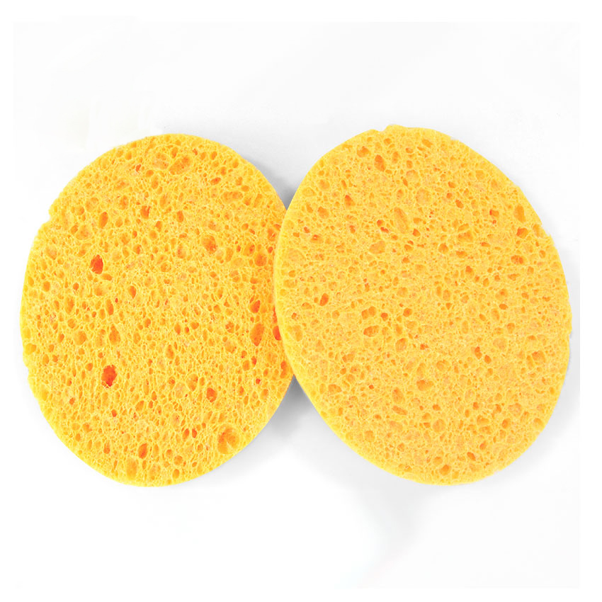 Round Shape Facial Sponge 80*8mm Natural Wood Pulp Sponge, Facial Cleansing Pad for Washing, Cellulose Sponge Puff, 10pcs/lot массажер cheapnium facial cleansing pad