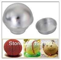 3D Sports Ball Cake Tin Pan Mold Set 6 Silver Half Ball Sphere Baking Mould Tool