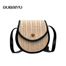 New Korean Version Of All-match Straw Plaited Article Exceed Shoulder Rattan Handbag O Bag Luxury Handbags Women Bags Designer цены