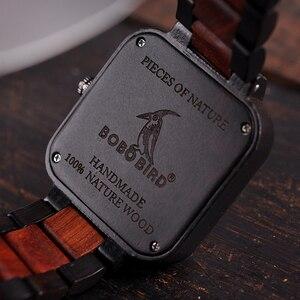 Image 3 - Relogio masculino BOBO BIRD นาฬิกาผู้ชายนาฬิกาไม้ QUARTZ Mens TOP แบรนด์หรูวันที่นาฬิกาข้อมือยอมรับโลโก้ Drop Shipping