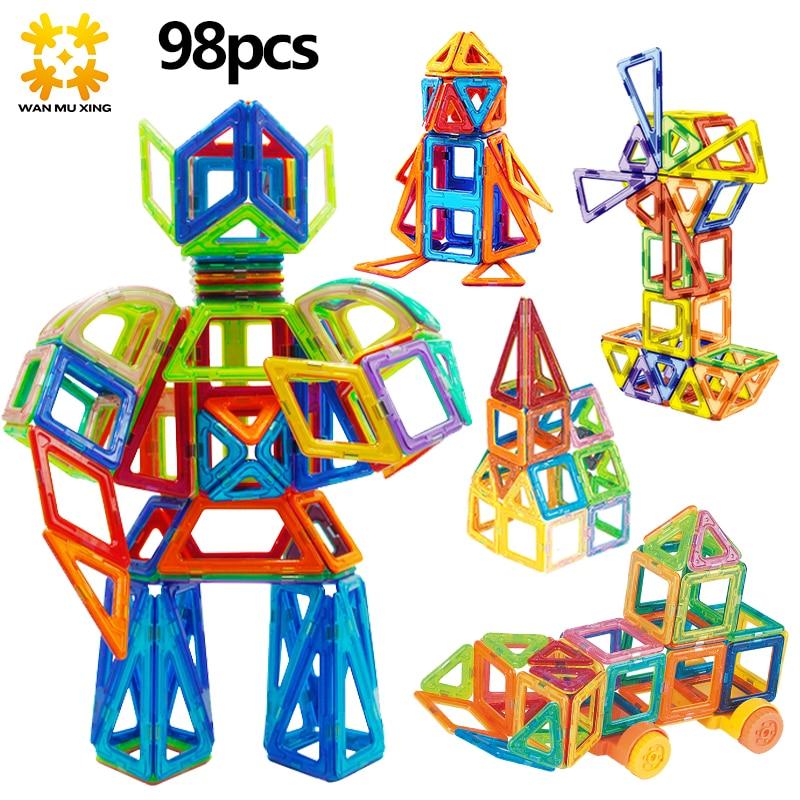 Mini Scale Magnetic Blocks Building Model Block 3D DIY Children Toys Educational Construction Bricks Toy For Kids стоимость